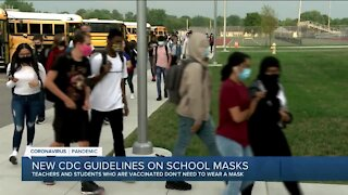 New CDC guidelines on masks in schools