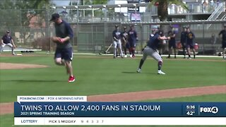 Twins allow limited amount of fans