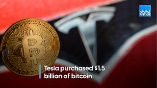 Tesla buys $1.5 billion of bitcoin
