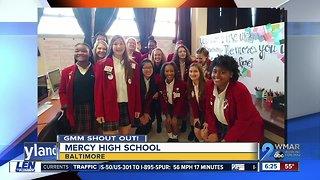 Good morning from Mercy High School!