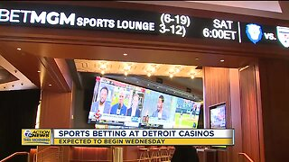 Here's what legal sports betting at Detroit casinos will look like on Wednesday