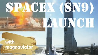 Launch of SpaceX's SN9 Starship Suborbital Flight. No Commentary (Clean Audio).