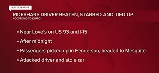 Rideshare driver beaten, stabbed, and tied up