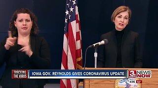 Iowa Gov. Reynolds gives coronavirus update