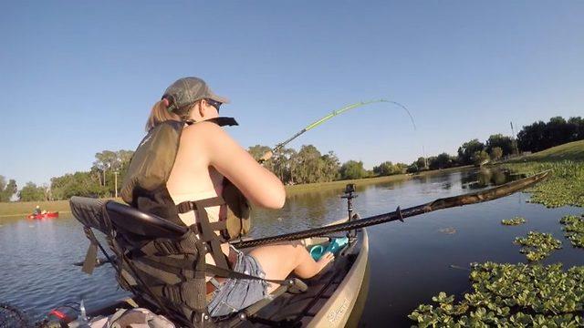 Hun har fisket siden hun var liten - dette har aldri skjedd før