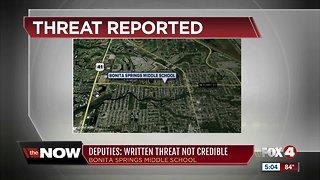 Bonita Springs Middle School threat