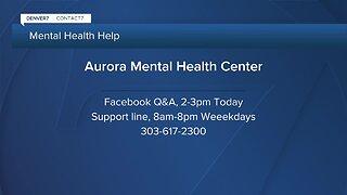 Aurora Mental Health offering help on social media
