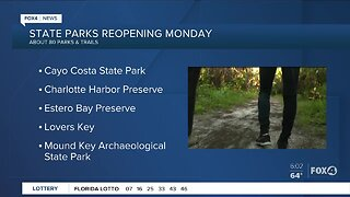 State parks reopening Monday