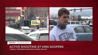 'Multiple gun shots for sure': Eyewitness describes active shooter scene inside Boulder King Soopers