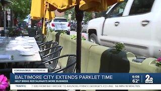 Baltimore City extends parklet time