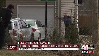 Police fire at suspect near Highlands Elementary School
