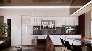 1200sf 3bedroom 2bath Condo unit interior design - (eg. apartment flat interior tour)