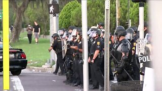 SPECIAL REPORT: Law enforcement clearing Tampa Bay street amid George Floyd protests