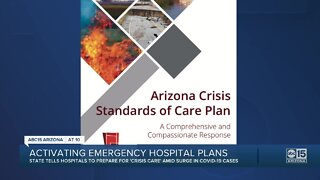 Arizona hospitals told to activate emergency plans