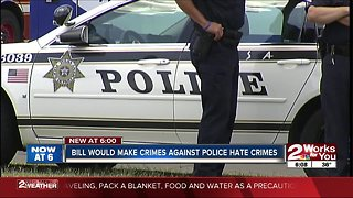Bill would make crimes against police hate crimes