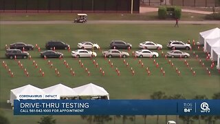 COVID-19 testing site opens in West Palm Beach