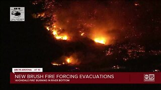 Evacuations issued for brush fire burning in Avondale