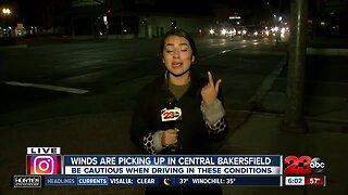 Dusty winds in Downtown Bakersfield