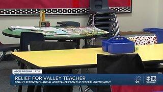 Valley substitute teacher finally receives financial assistance
