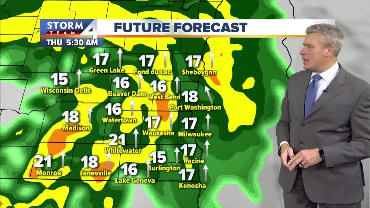 Expect wind and rain Thursday, high of 50