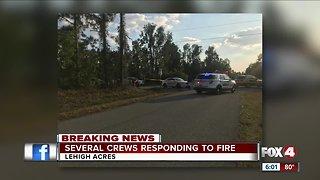 Structure fire Lehigh Acres