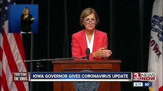 Iowa governor provides coronavirus update