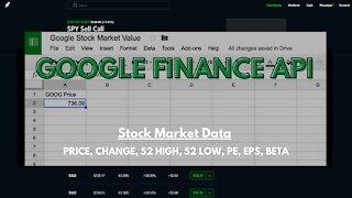 GOOGLE FINANCE API - HOW TO MAKE A STOCK MARKET SPREADSHEET