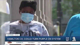 Will Hamilton County turn purple for COVID-19 today?