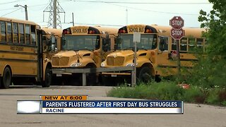 Parents flustered after first day bus issues