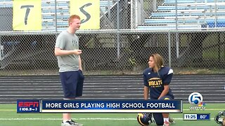 Girls playing HS football in Palm Beach County and the Treasure Coast