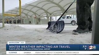 Winter weather impacting air travel