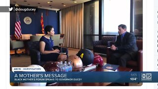 Valley mother shares message with Arizona Governor Doug Ducey