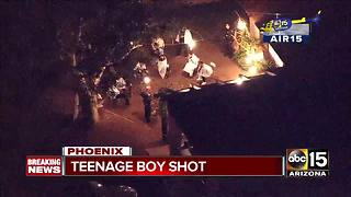 Teen hospitalized after being shot in west Phoenix