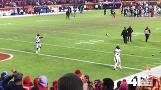 VIDEO: Chiefs fans throw beer at celebrating Charger players