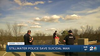Stillwater police save man from jumping off building