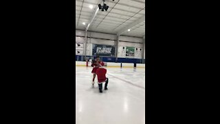 Surprise ice rink marriage proposal will make you smile