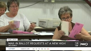 How long will it take to count mail-in ballots in Lee County?