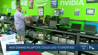 High demand in laptops could lead to shortage