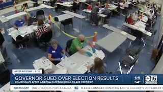 Governor Ducey sued over election results
