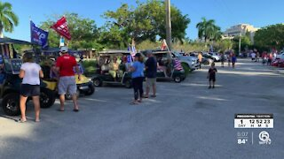Trump supporters hold golf cart parade in Atlantis