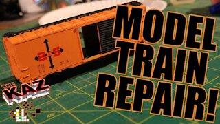 HO Scale Model Train Boxcar Repair
