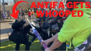 Antifa Shoots At Trump Supporters Then Gets DESTROYED! Olympia, Washington
