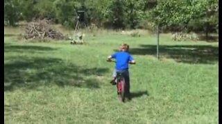 Barn kan ikke bruke bremsene