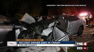 Second driver involved in fatal crash, dies Thursday