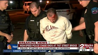 High-speed police chase ends in rollover, kidnapping victim rescued