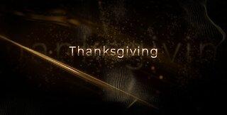 Golden Happy Thanksgiving video