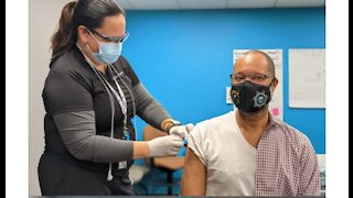 Nevada Attorney General Aaron Ford receives COVID-19 vaccine