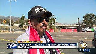 President Trump departs border wall site