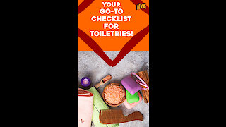 A Few Essential Toileteries in your travel kitty *