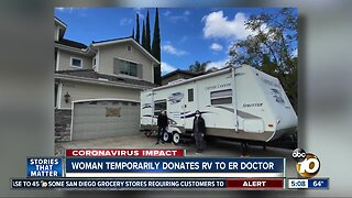 Woman temporarily donates RV to ER doctor